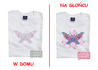 T-shirt changes<br>color - butterfly