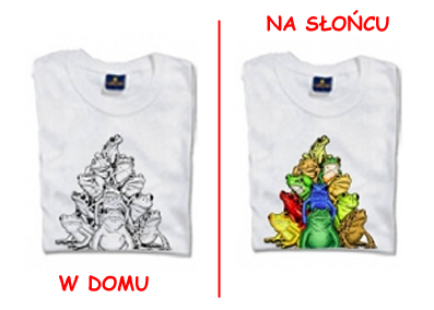 T-shirt changes<br>color - frogs