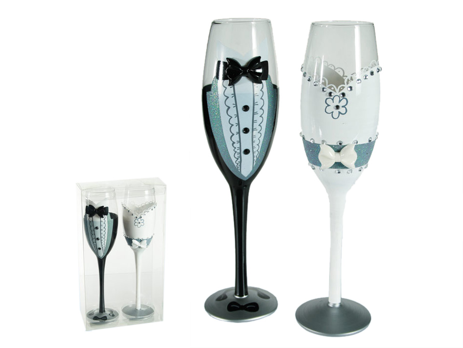Glasses of<br> champagne young<br>couple