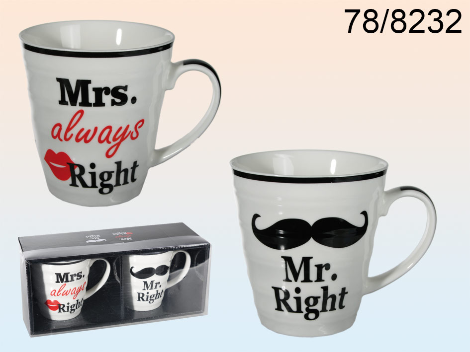 Mr &amp; Mrs cups<br>always right