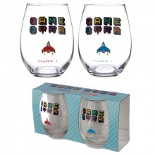 Game over glasses - set of 2 pieces