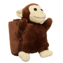 Plush Monkey with a Blanket
