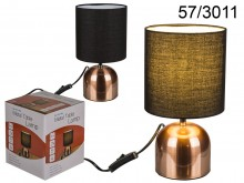 Floor lamp - copper with a shade