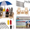 Spice picnic table with cutlery