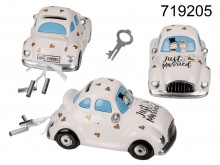 Ceramic money box Just Married - a newlyweds' car