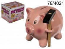 Piggy Bank with a Hammer