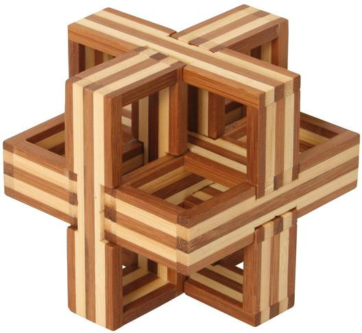 Bamboo Puzzle Cube D
