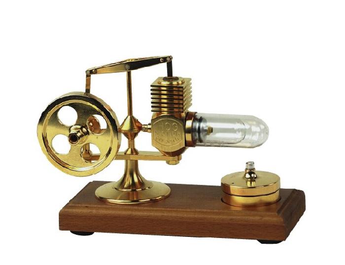 Stirling-Motor mit<br>24 Karat vergoldet