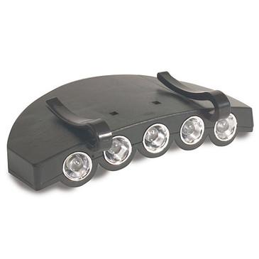 Taschenlampe auf Kappe