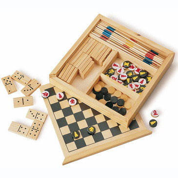 Set of 5 wooden games