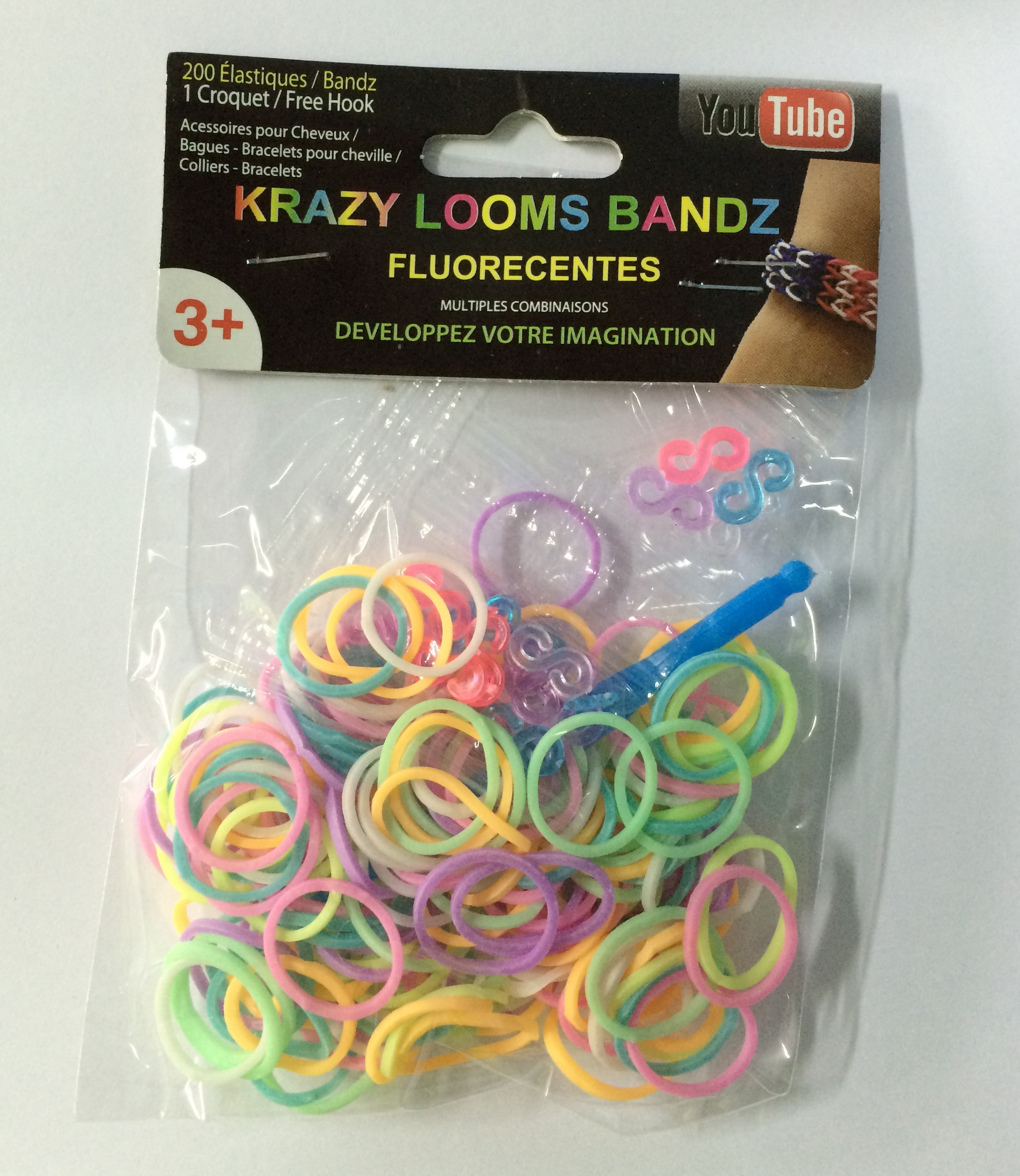 Loom Bands -<br> bracelet with<br>gumeczek 200 pcs