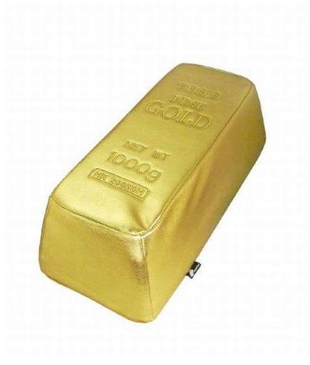 Pouf Goldbarren