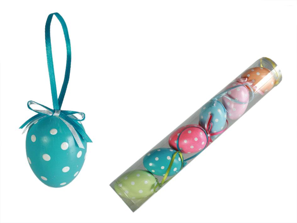 Eine Reihe von dekorativen Eier
