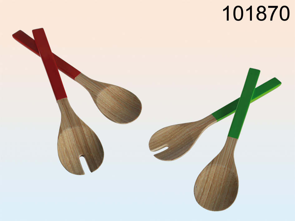 Bambuslöffel Salat