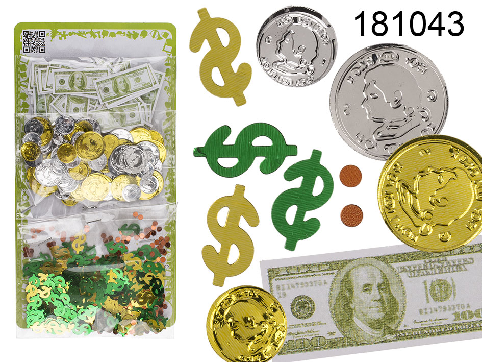Confetti party money