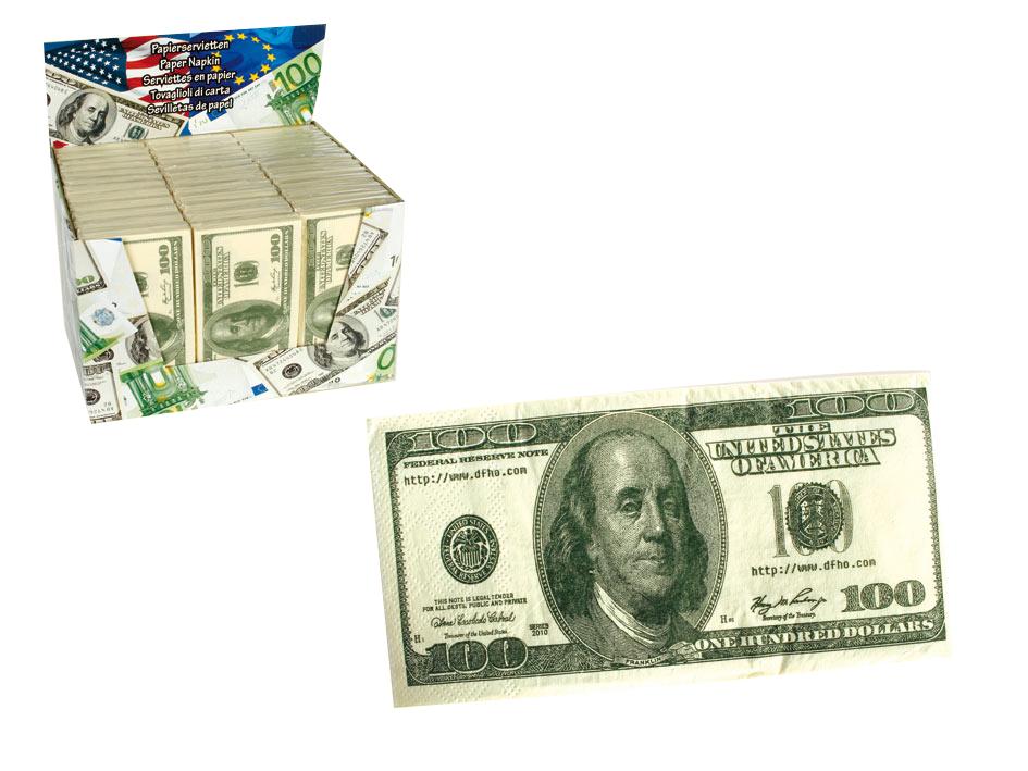 100 USD Napkins