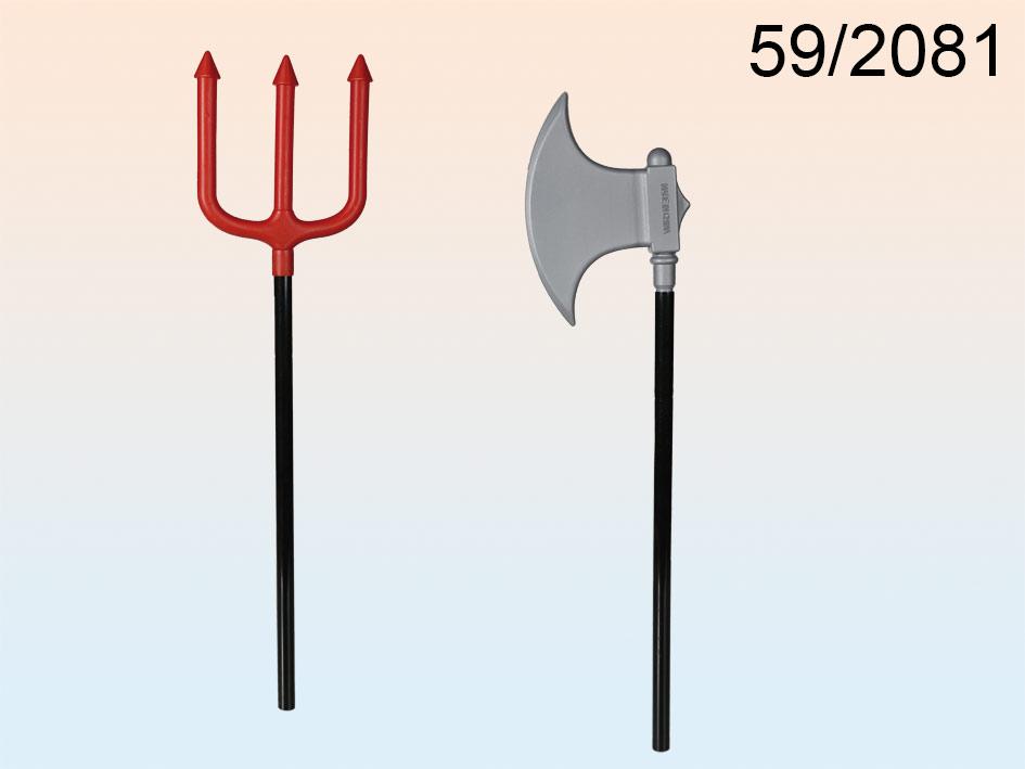 Devil ax, trident