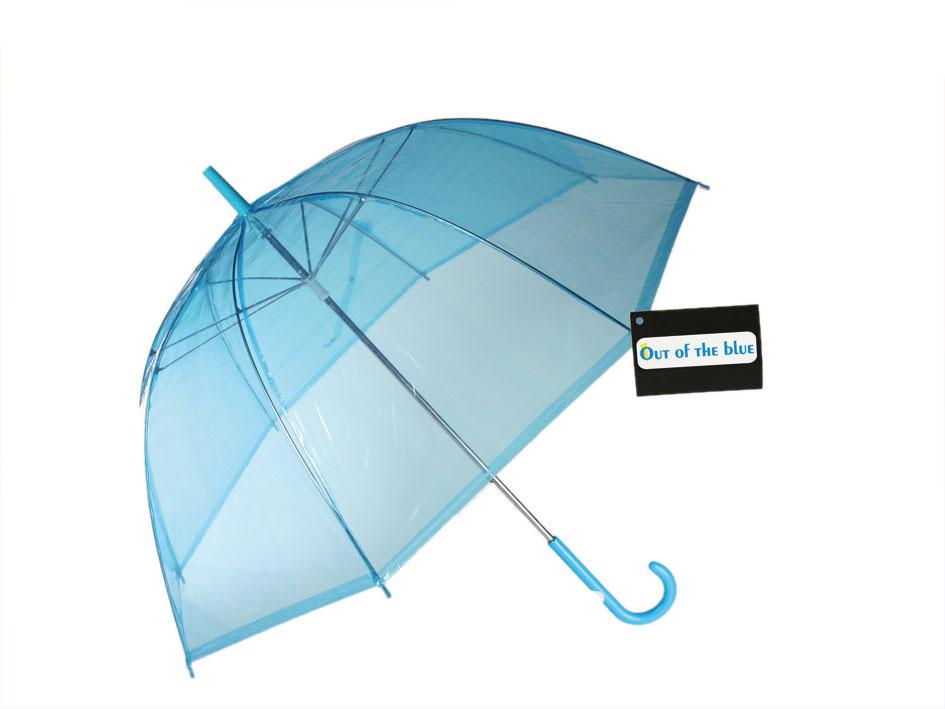 Parasol<br> przezroczysty<br>niebieski
