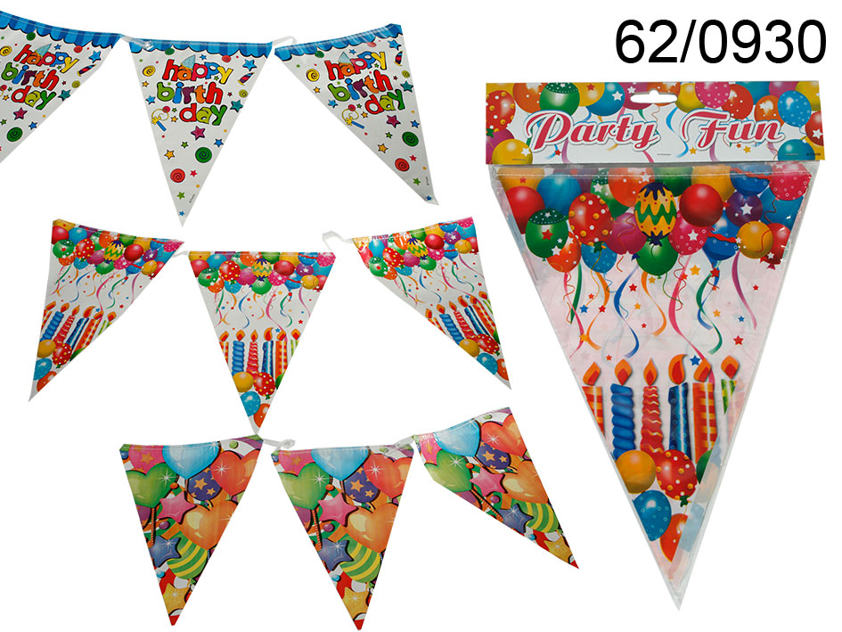 Birthday banner<br>with flag