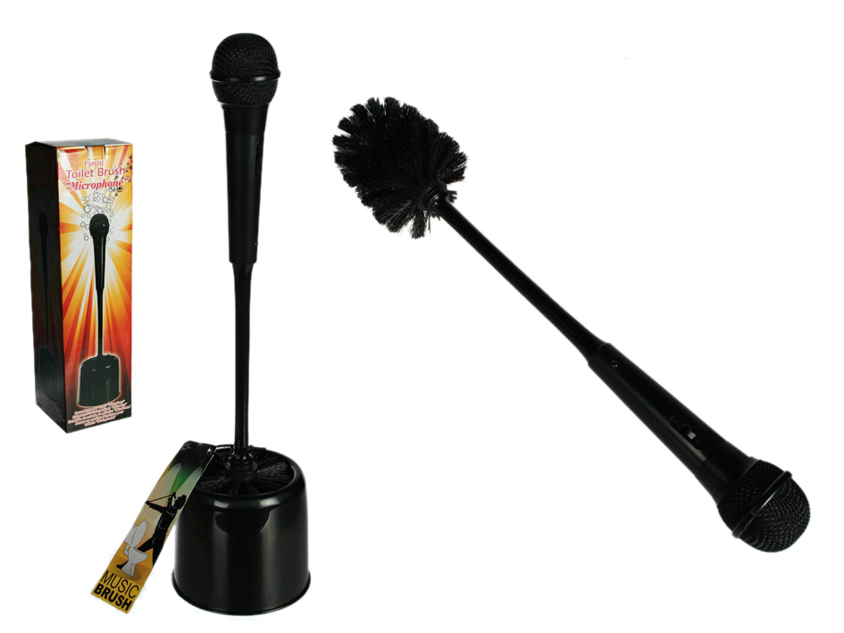Toilet brush microphone
