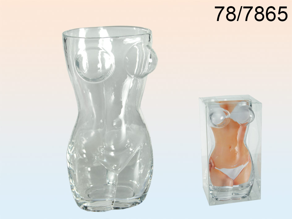 Ein Glas Körper einer Frau