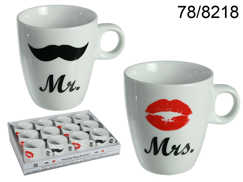 Mugs Mr. and Mrs.<br>- 12 pieces