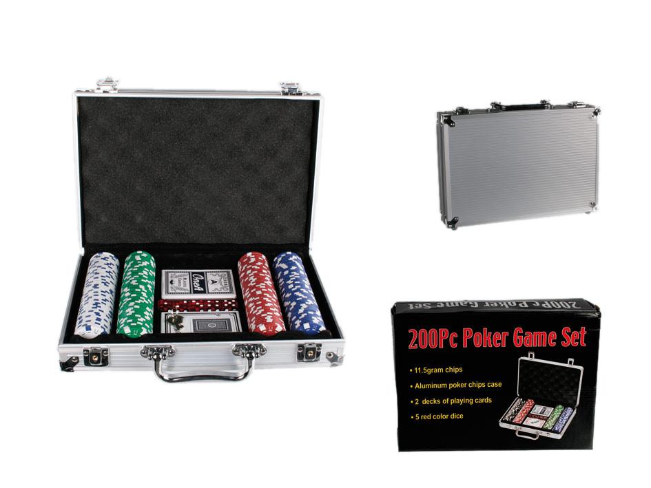 Póker készlet 200-<br>Alumínium táska