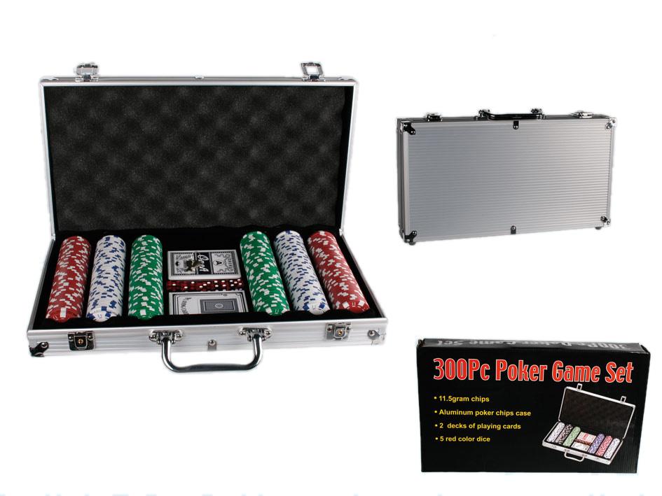 Póker készlet 300-<br>Alumínium táska