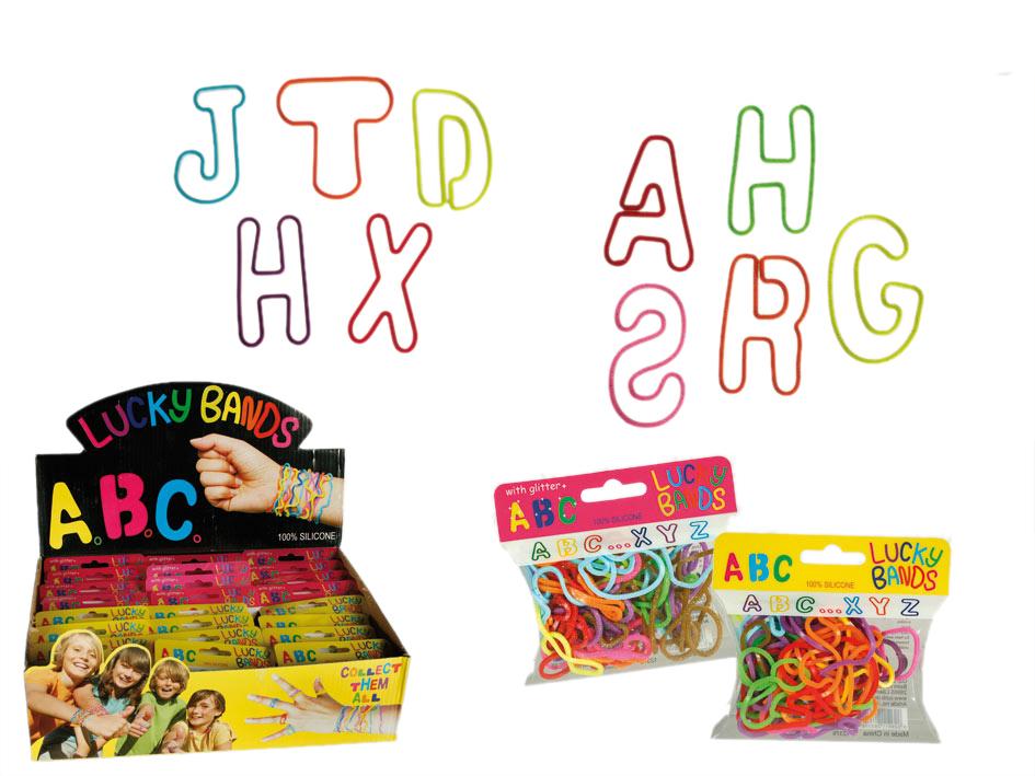 Bracelets en<br> silicone -<br>Alphabet 36 gumeczek