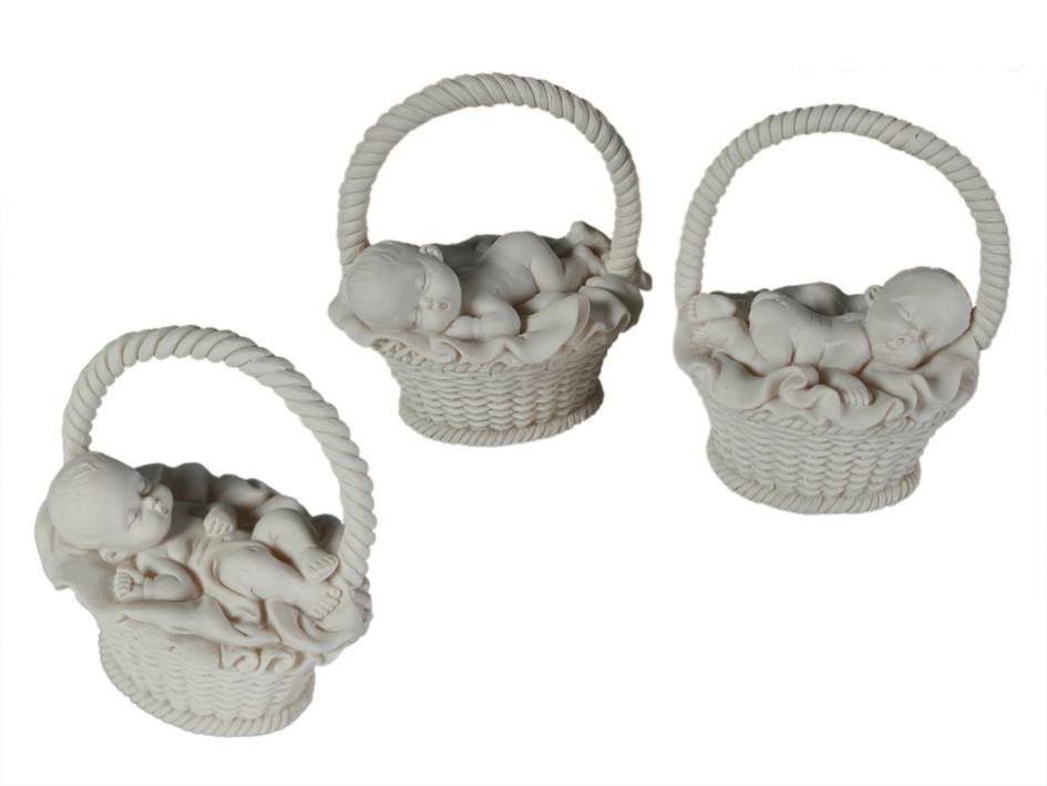 Porzellan Babypuppen in einem Korb
