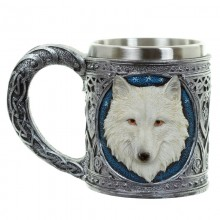 A pint of white wolf - decorative