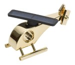 Solar Helicopter Covered with 24-carat Gold