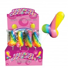 Sexy rainbow lollipop penis
