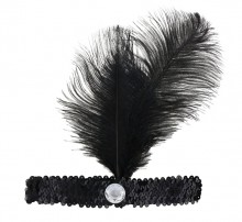 Retro feather headband