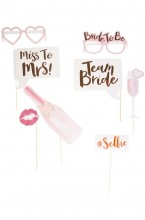 Photo accessories on Bride to Be sticks