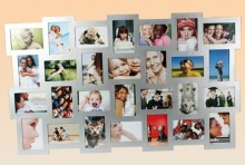 XXL Picture Frame for 28 Photos - Silver