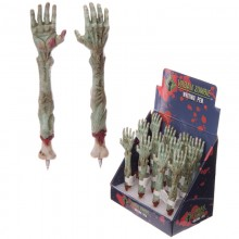 A zombie pen in a hand