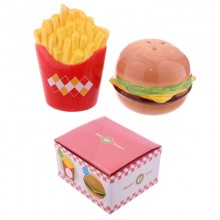 Burger and Fries Salt and Pepper Shakers