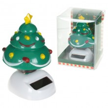 Solar Christmas tree figurine
