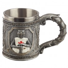 Beer mug knight - decorative
