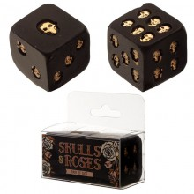Golden skull bone (set of 2)
