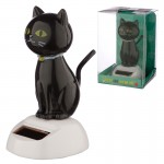 Black Cat Solar Figurine