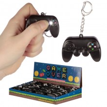 Game pad keychain with sound