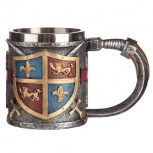 Knight's mug with heraldic shield and swords - ...