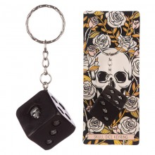 Cube with skulls keychain