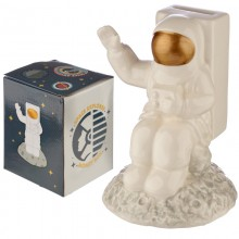 Ceramic money box cosmonaut