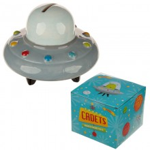 Ceramic piggy bank spaceship UFO