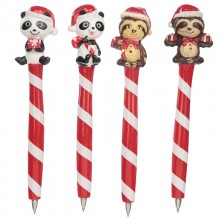 Christmas ball pen - panda bear or sloth
