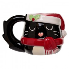 Ceramic mug Christmas cat