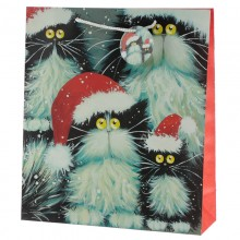 Christmas gift bag Cats with a XL card